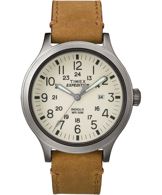 Expedition Scout 43mm Leather Watch
