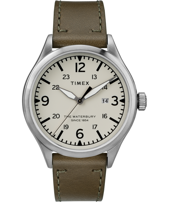 Waterbury Traditional 3 Hand Date 40mm Leather Watch