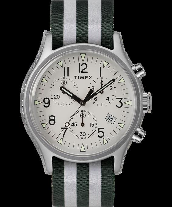 MK1 Aluminum Chrono 40mm Reflective Nylon Strap Watch