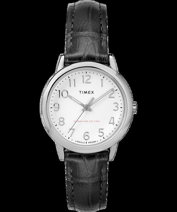 Reloj Easy Reader de 30mm con correa de cuero