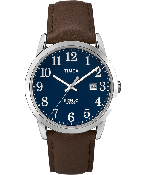 Easy Reader Mens 38mm with Date Leather Watch