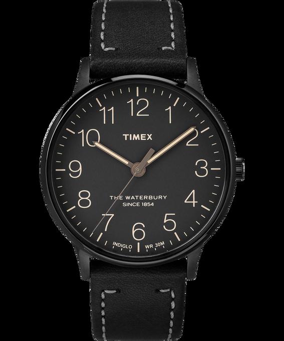 Waterbury 40mm Classic Leather Strap Watch