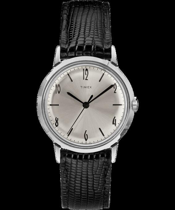 Marlin 34mm Hand-Wound Leather Strap Watch