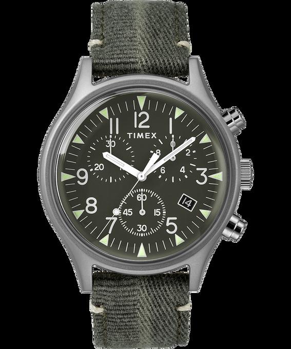MK1 Chronograph Steel 42mm Fabric Strap Watch