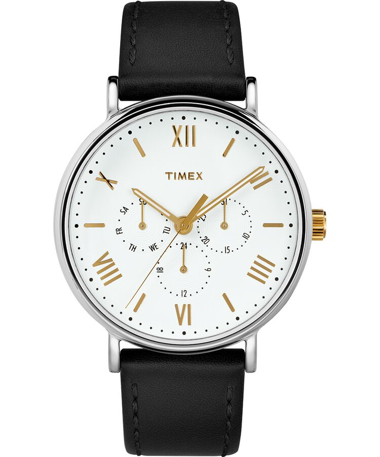 8e151da4dd59 Reloj Southview de 41 nbsp mm con correa de cuero Cromo Negro Blanco