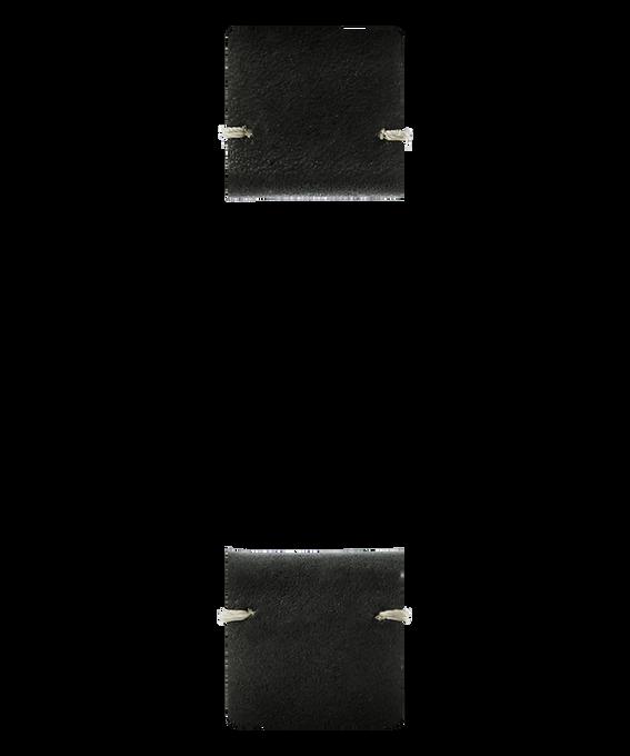 Correa de cuero negro de dos piezas  large