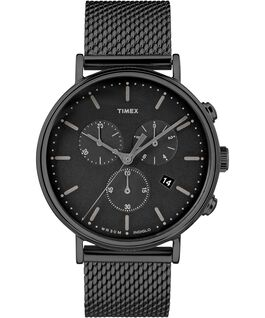 Fairfield Chronograph 41mm Mesh Stainless Steel Watch Black large