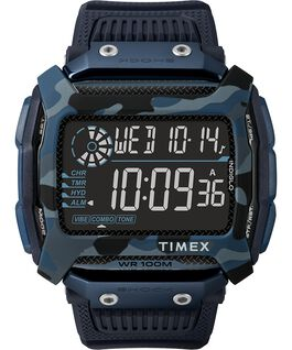 Command Shock 54mm Resin Strap Watch Blue large