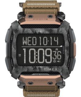 Reloj Command Shock de 54 mm con correa de tela de cierre rápido Negro/Marrón large