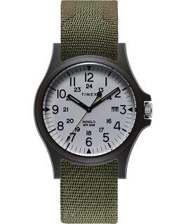 Reloj Acadia de 40mm con correa de tela Verde large