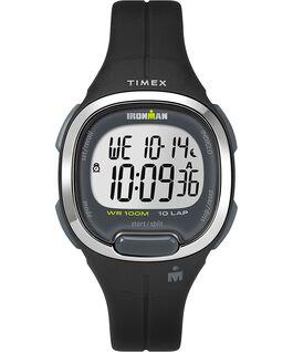 Reloj Ironman Transit 10 de tamaño mediano de 33mm con correa de resina Negro/Plateado large