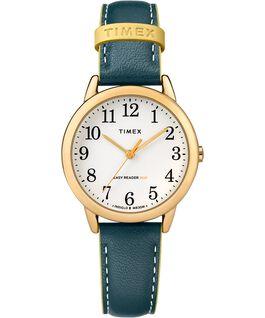 Reloj para mujer Easy-Reader Color Pop exclusivo de 30mm con correa de piel Dorado/Azul/Blanco large