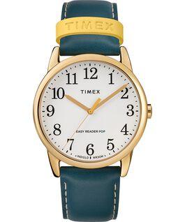 Reloj para mujer Easy-Reader Color Pop exclusivo de 38mm con correa de piel Dorado/Azul/Crema large
