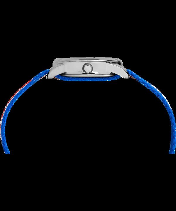 Reloj analógico de 30mm con correa de nylon para niños Silver-Tone/Blue large
