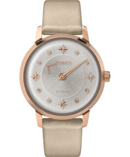 Celestial Opulence Automatic 38mm Textured Strap Watch Rose-Gold-Tone/Champagne/Silver-Tone large