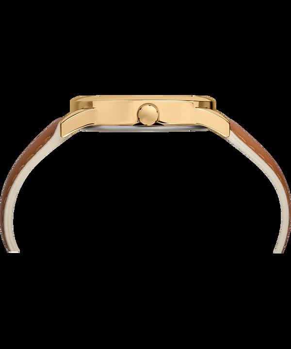 Reloj Easy Reader Color Pop de 38mm con correa de cuero Gold-Tone/Tan/Cream large