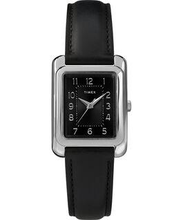 Reloj Meriden de 25mm con correa de cuero Cromado/Negro large