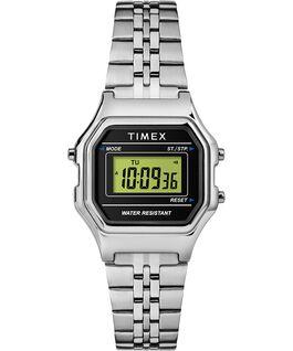 Reloj digital mini de 27mm con correa metálica Plateado/Negro large