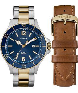 Set de regalo con reloj Harborside de 43mm y correa extra Dos tonos/Azul large