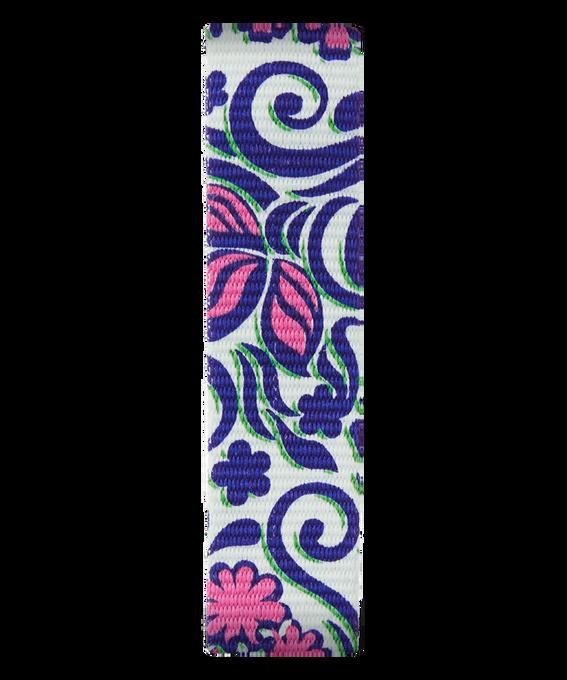 Correa de nylon deslizante azul/rosado  large
