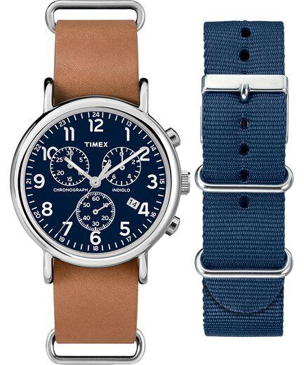 599f7e2b8ddd Set de regalo de reloj cron oacute grafo Weekender de 40 nbsp mm con correa  de