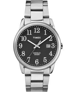 Reloj Easy Reader de 38mm con fecha y correa metálica Silver-Tone/Black large