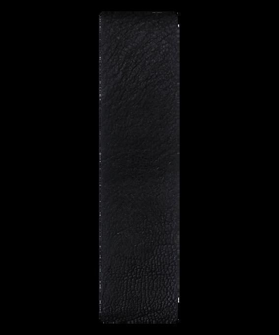 Correa de cuero negro/borde en bronce deslizante  large