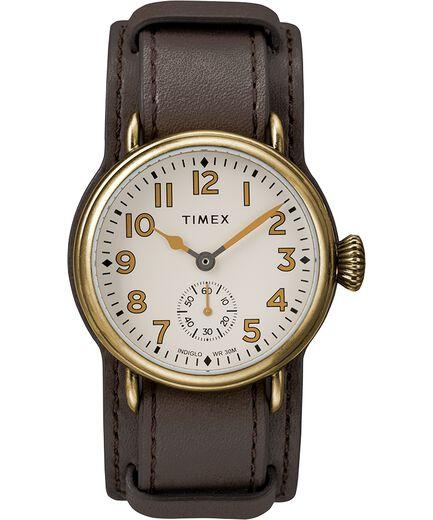 1a234cfabf49 Reloj Welton de 38 mm en acero inoxidable con correa de cuero