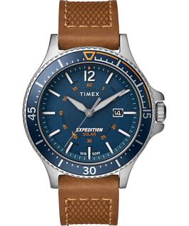 EXPEDITION RANGER SOLAR 43MM CORREA DE PIEL Silver-Tone/Tan/Blue large