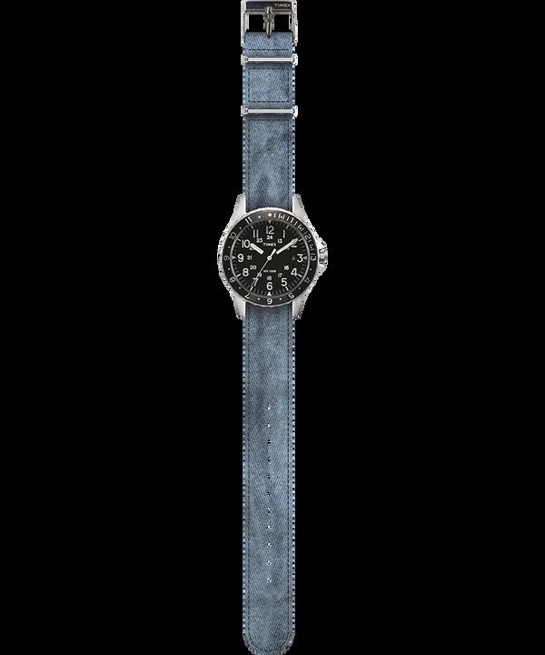 Navi Ocean 38mm Fabric Strap Watch Negro/Azul large