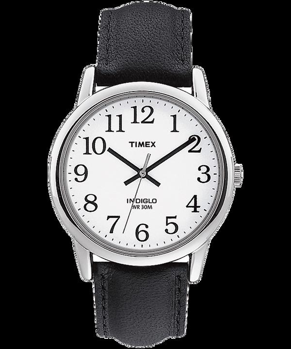 Reloj Easy Reader de 35mm con correa de cuero Silver-Tone/Black/White large