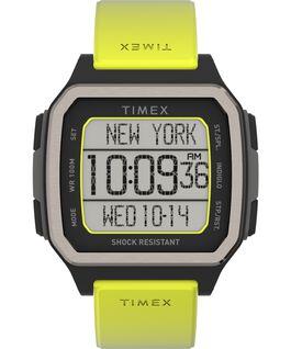 Reloj Command Shock de 47mm con correa de resina Negro/verde large