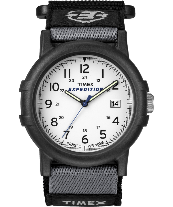 Reloj Expedition Camper de 38 mm con correa de nylon Black/White large