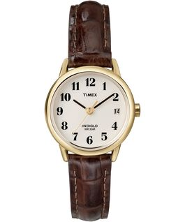 Easy Reader 25mm Leather Watch Gold-Tone/Brown/Natural large