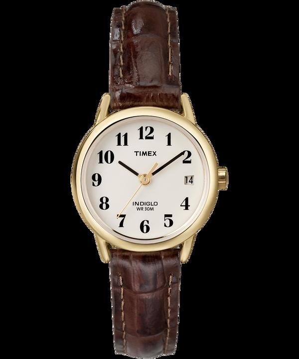 Reloj Easy Reader de 25mm con correa de cuero Gold-Tone/Brown/Natural large