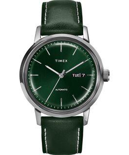 Reloj automático Marlin de 40 mm con correa de piel y fecha Acero inoxidable/Verde large