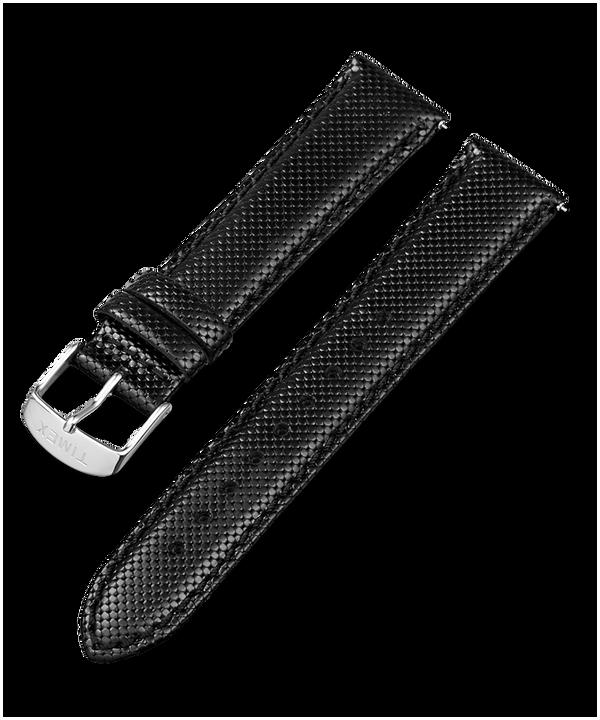Correa de cuero de 20mm de cambio rápido Black large