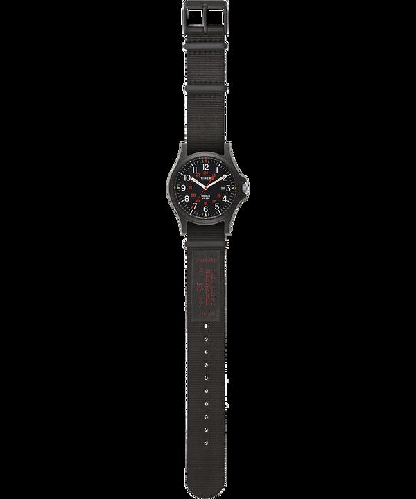 Reloj Arcadia de 40mm con correa de otomán Negro large