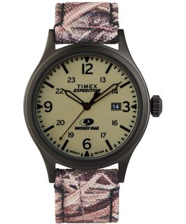 Reloj Expedition Scout Timex x Mossy de 40 mm con correa de tela Negro/Marrón/Verde large