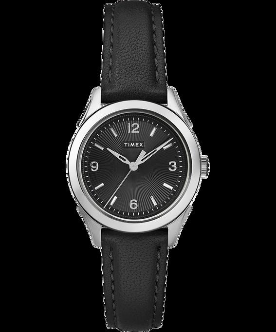 Reloj Torrington para mujer con tres manecillas de 27mm con correa de cuero Acero inoxidable/Negro large