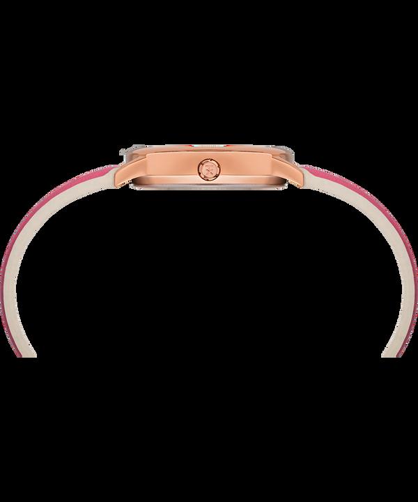 Reloj Easy Reader Color Pop de 30mm con correa de cuero Tono oro rosa/Rosa/Blanco large