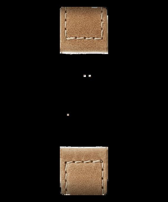 Correa de cuero color dorado de dos piezas  large