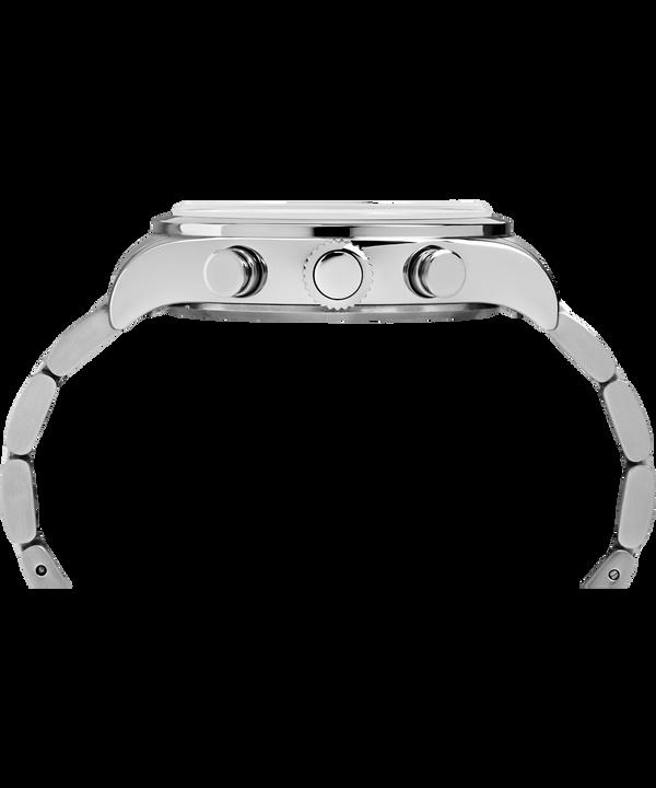 Reloj cronógrafo Waterbury Traditional de 42mm con correa de acero inoxidable Stainless-Steel/Black large