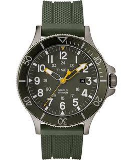 Reloj Allied Coastline de 43mm con correa de silicona Gray/Green large
