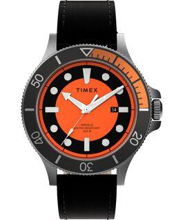 Reloj Allied Coastline de 43mm con correa de tela Plateado/Negro/Naranja large