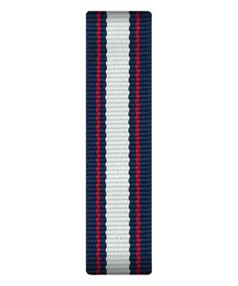 Correa de nylon color azul/blanco/rojo deslizante  large