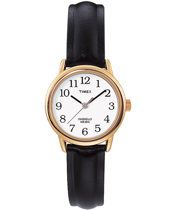 Reloj Easy Reader de 25 mm con correa de cuero Gold-Tone/Black/White large