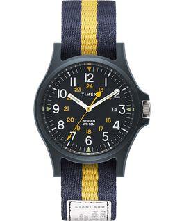 Reloj Acadia de 40mm con correa de tela Azul large