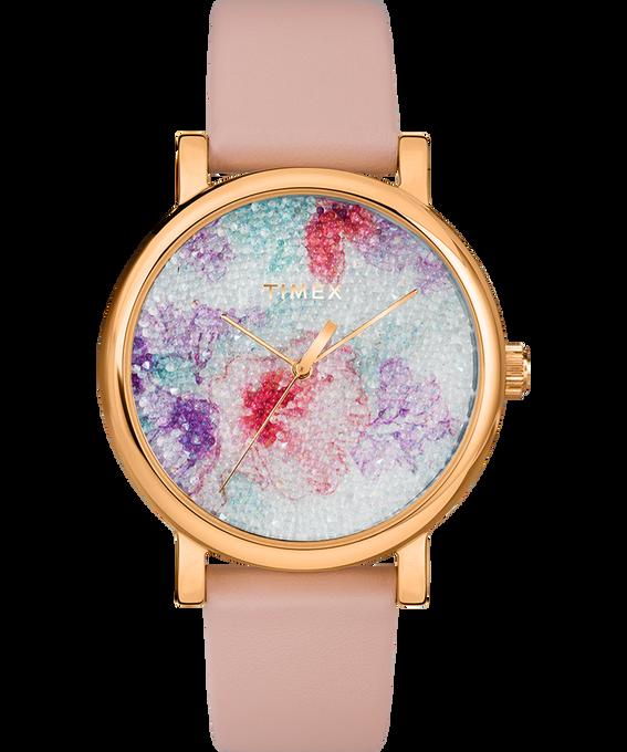 Crystal Bloom with Swarovski Fabric 38mm Leather Watch