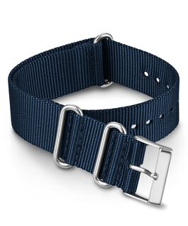 Correa deslizante de tela de doble capa de 20mm de color liso Azul large